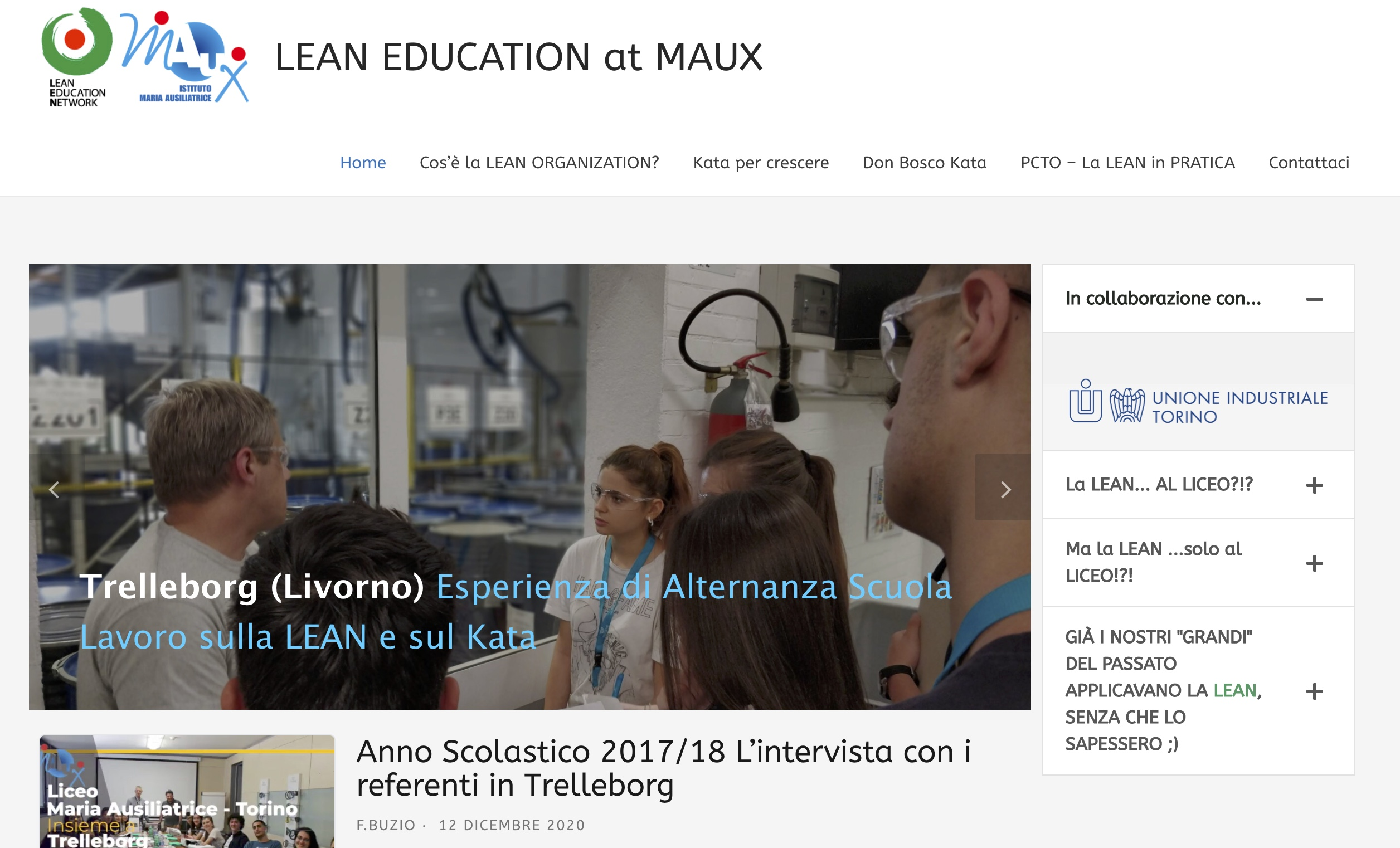LEAN at MAUX