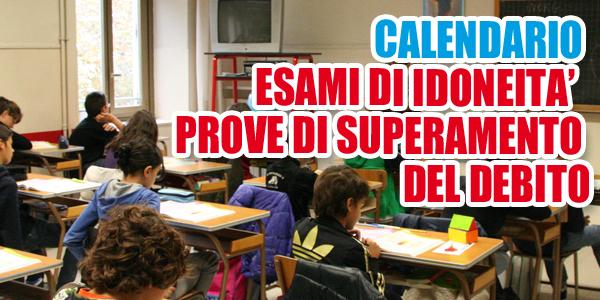 Liceo –  PROVE DI SUPERAMENTO DEL DEBITO